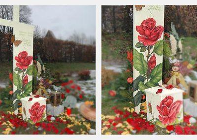 Rosenkreuz mit Urne