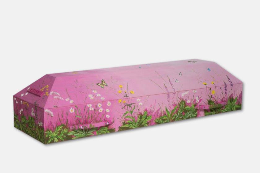 Blumenwiese in Magenta